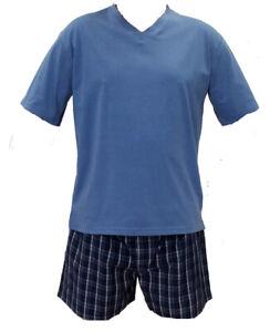 Mens Pelaco PJS Light Blue Short Pyjama Set (5307)