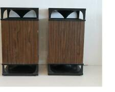 Set of Vintage Mid Century Modern Style Wood Omni Directional Speakers