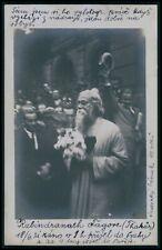 Rabindranath Tagore India ayurveda poet Nobel Prize 1910s RPPC photo postcard