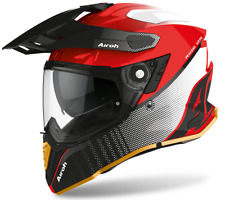Motorcycle Helmet Motard Enduro off Road Airoh Commander Progress Red Red Gloss