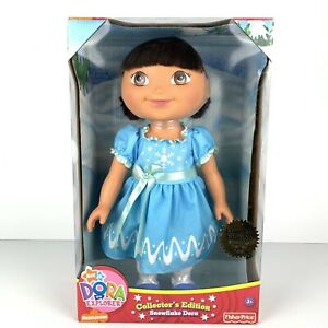 "Dora The Explorer Doll 15 "" Snowflake NEW Limited Edition By Fisher Price Ages 3"