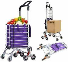 2~8 Wheels Folding Shopping Cart Grocery Trolley Laundry Stair Climbing Handcart