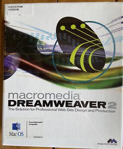 NIP Vintage Macromedia Dreamweaver 2 Windows/ Mac Software, Education Version