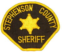 STEPHENSON COUNTY ILLINOIS IL Sheriff Police Patch STAR VINTAGE OLD MESH USED