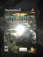 Socom III Us Navy Seals PS2 Playstation 2 Game Complete