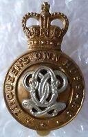 7th Queen's Own Hussars Cap Badge QC Bi-Metal Slider ANTIQUE Org