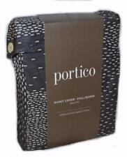 Portico NOVA SKY BLACK ABSTRACT FULL/ QUEEN Duvet Comforter Cover ORGANIC COTTON