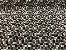 Pixel Perfect Chocolate Cream Quilted Upholstery Fabric by the yard