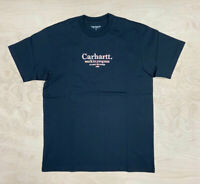 Carhartt Wip Commission T Shirt Black graphic Embroidery  Ship Worldwide