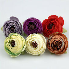 100x Silk Camellia Flower Heads Artificial tea Rose Flower Wedding Fake Flowers