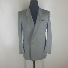 GUCCI TRUE VINTAGE DOUBLE BREASTED WOOL BLAZER NO VENTS OLIVE STRIPED 39-40R