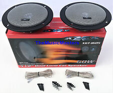 "Thin Mount 6"" Diameter 5 1/2"" Car Audio Stereo Radio Speakers w/ Built-In Grills"