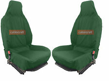 Front Pair Cabincraft Isuzu Rodeo Airbag Compatible Waterproof Seat Covers Green