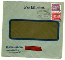 Germany Special Delivery Commercial Cover Railroad Cancellation (1929)
