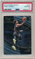 TRAE YOUNG 2018/19 PANINI SELECT #249 RC ROOKIE COURTSIDE HAWKS PSA 10 GEM MINT