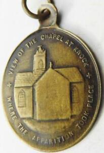 Rare Early IRISH Catholic Apparition of Knock Holy Medal Shrine St. John 1879