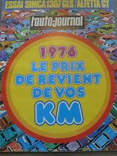 L'AUTO JOURNAL 1976 2 SIMCA 1307 GLS ALFA ROMEO ALFETTA GT RALLYE NICE ABIDJAN