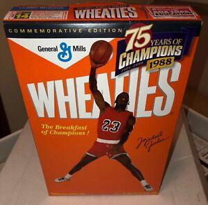 Unopened 1998 Wheaties MICHAEL JORDAN Bulls 75 Years of Champions Cereal Box