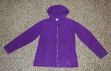 Lands End Purple Fleece Zip Up Jacket Girls Size M 10/12