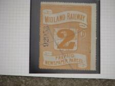 Great Britain, Midland Railway 2d, Prepaid Newspaper Parcel, about 1855?