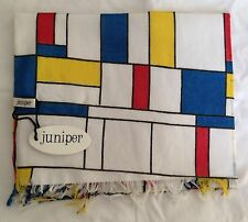 NEW 100% COTTON UNISEX MONDRIAN STYLE PRINT SCARF BY JUNIPER