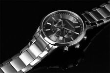 Emporio Armani Silver Tone Stainless Steel Mens Watch AR2434 RRP $549