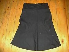 BNWT Ladies MATERNITY Black Roll Top Linen Blend Skirt Size 10