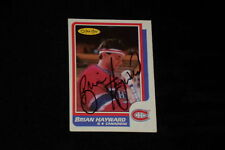 BRIAN HAYWARD 1986-87 O-PEE-CHEE SIGNED AUTOGRAPHED CARD #255 CANADIENS