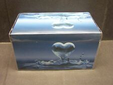 HEART SHAPED WATER DROP  VINYL CHECKBOOK COVER