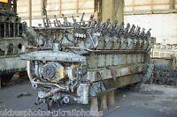 British Rail Class 40 40024 power unit Crewe works melt shop 13/10/85 Rail Photo