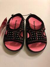 Baby Girls Sandals Shoe Size 2 Black