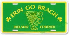 "Irish Erin Go Bragh Ireland Forever Green 6""x12"" Aluminum License Plate Tag"