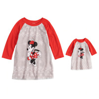 Disney's Minnie Mouse Toddler Girl 2T Minnie Nightgown & Doll Pajama Set, $32