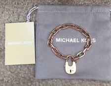 $125 NWT MICHAEL KORS ROSE-GOLD Padlock Bracelet MKJ4629791