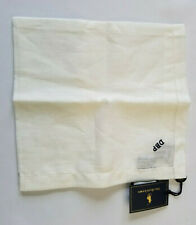 POLO RALPH LAUREN WHITE 100% LINEN POCKET SQUARE HAND MADE IN IRELAND = DBP