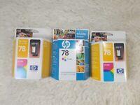 HP 78 Genuine Tri-Color Ink Cartridge C6578DN SEALED - Lot Of 3