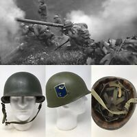 14th Infantry US Korean War Reissued WWII 1944 M1 McCord Front Seam Helmet Relic