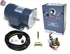 KB Electronics KBMD-240D dc drive 9370 w/ Leeson 1800rpm 1/2hp motor MADE IN USA