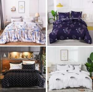 Quilt Cover Duvet Cover with Pillow Case Bedding Set Single Queen King All Size
