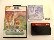 WIMBLEDON - SEGA MASTER SYSTEM - Complet
