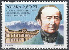 Poland 2002 - Ignacy Domeyko - Fi 3832 MNH**