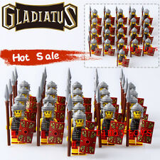 Rome Fighters Gladiatus Warriors Minifigs Medieval Knights Rome Building Toys