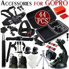 44in1 GoPro Camera Accessories Set Head Mount Chest Strap For GoPro Hero 3+2 3 4