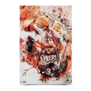"Allen Iverson Signed Autographed 20x30 Canvas ""Undaunted"" 76ers #/30 UDA"