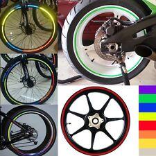 1 X Orange Motorcycle Rim Tape Reflective Wheel Stickers Decals Vinyl Set Kit