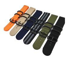 Fabric Watch Strap 22mm Band Military Army Diver for Seiko Skx007 Skx009