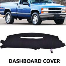 Dash Mat For Chevy Silverado C1500 C2500 C3500 1997 1998 Dash Cover Mat / Black
