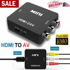 HDMI to AV 3RCA CVBs1080P Composite Video Audio Converter Supports PAL/NTSC US