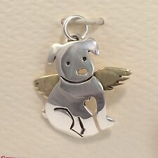 Angel Puppy Dog Charm Pendant 925 Sterling Silver Artisan Crafted Gift Boxed