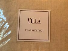 """Villa Natural By Noble Excellence King Bedskirt Wheat Gold Cotton Linen 16"""" Drop"""
